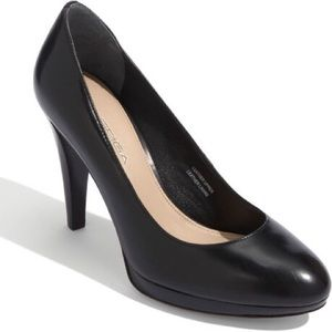 """Via Spiga - """"Callie"""" Black Leather Heels"""